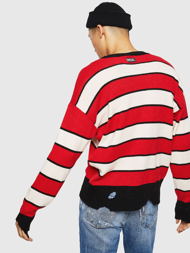 Diesel - K-LOVERY, Red/White - Sweaters - Image 2