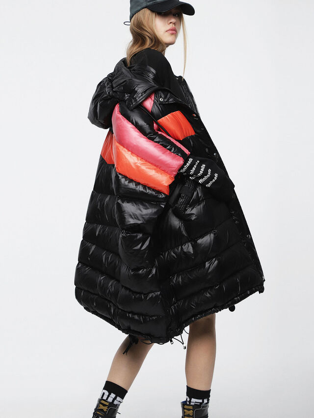 Diesel - W-MOSA, Multicolor/Black - Winter Jackets - Image 2
