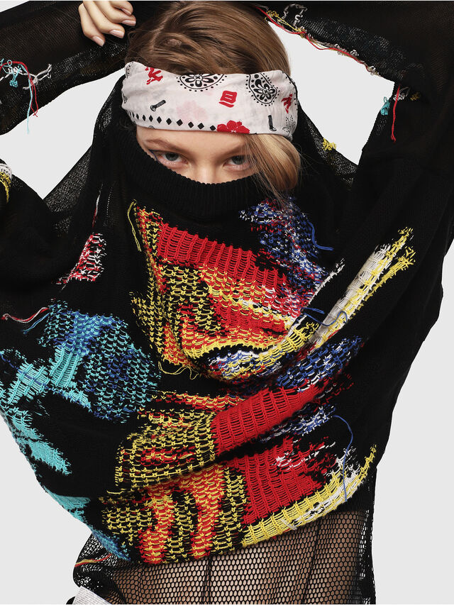 Diesel - M-NOW, Multicolor/Black - Sweaters - Image 3