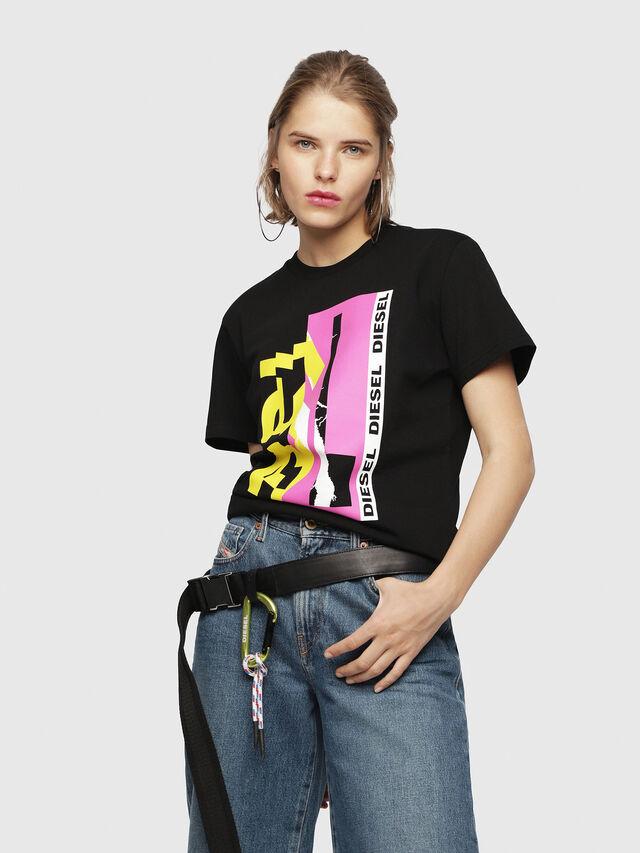 Diesel - T-FLAVIA-F, Black - T-Shirts - Image 1