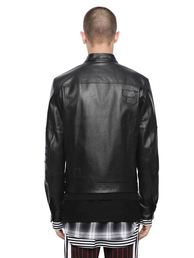 Diesel - LANPATCH, Black - Leather jackets - Image 2