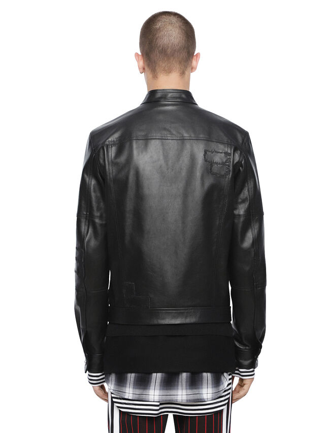 Diesel - LANPATCH, Black - Leather jackets - Image 2