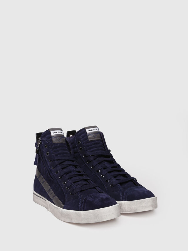 Diesel - D-VELOWS MID LACE, Dark Blue - Sneakers - Image 3