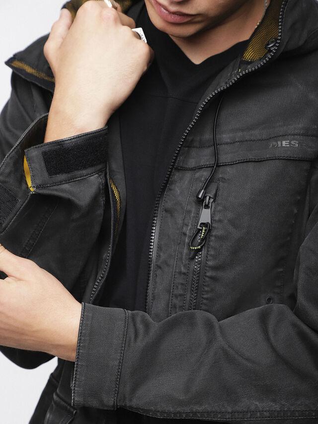 Diesel - JOQUE JOGGJEANS, Black/Dark Grey - Denim Jackets - Image 7