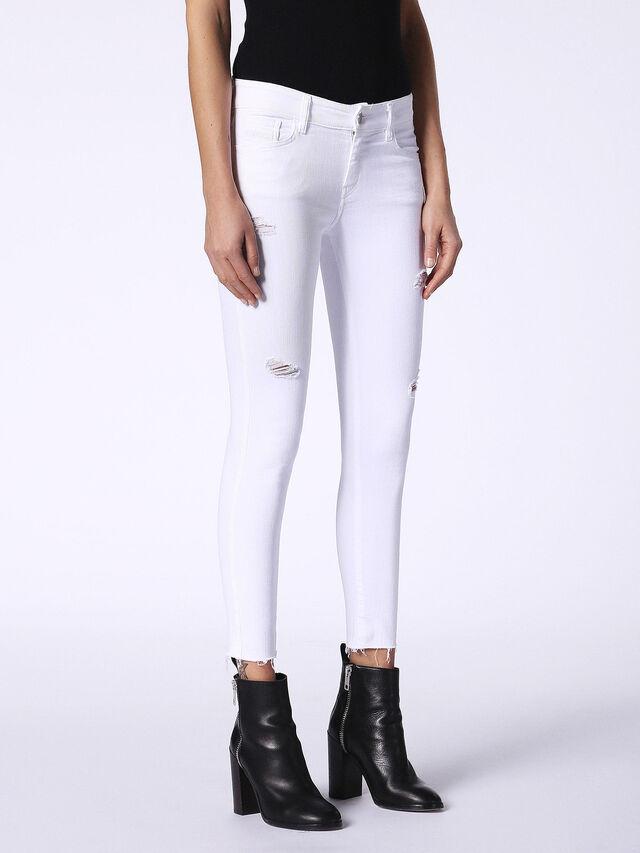 Diesel - Slandy 084EX, White Jeans - Jeans - Image 4