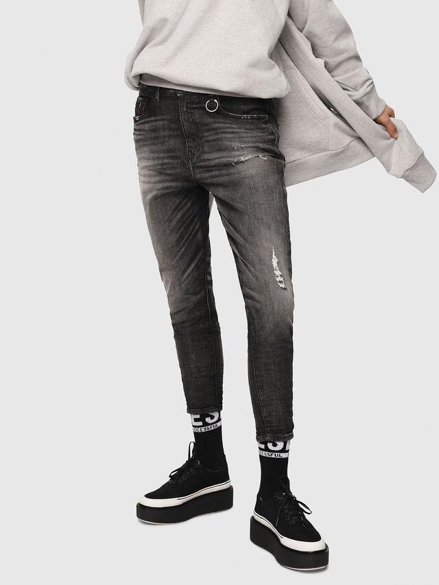 Diesel - Candys JoggJeans 0077S, Black/Dark Grey - Jeans - Image 1