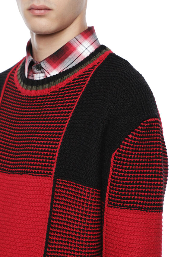 Diesel - KILTY, Red/Black - Sweaters - Image 6