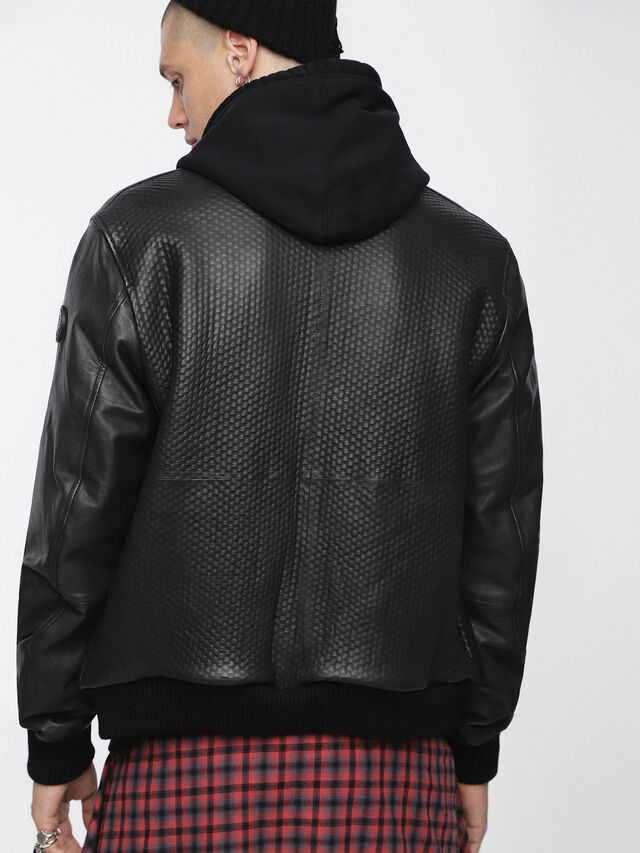Diesel - L-NEWBON, Black Leather - Leather jackets - Image 2