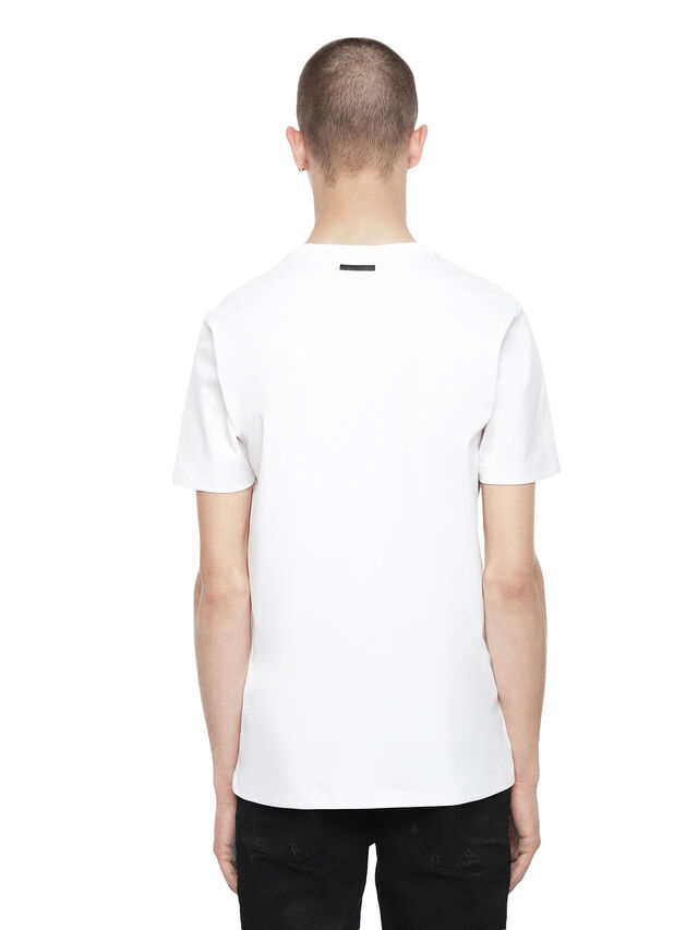 Diesel - TY-ABSTRACTION, White - T-Shirts - Image 2