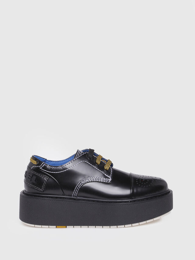 Diesel - D-CAGE LC, Bright Black - Flats - Image 1