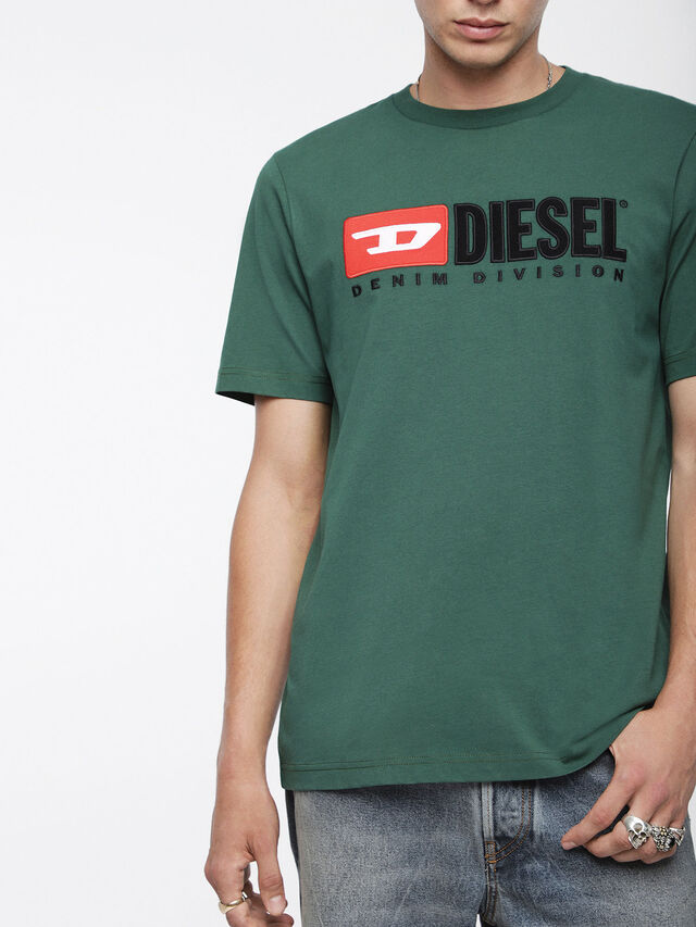 Diesel - T-JUST-DIVISION, Bottle Green - T-Shirts - Image 3