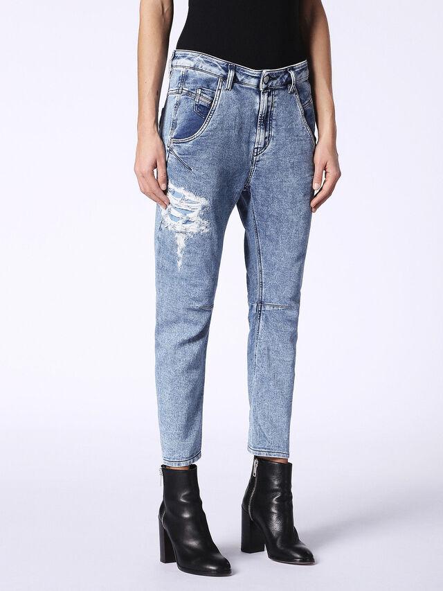 Diesel - Fayza JoggJeans 084PV, Light Blue - Jeans - Image 4