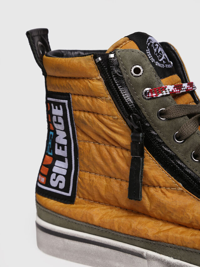 Diesel - D-VELOWS MID PATCH, Yellow - Sneakers - Image 4