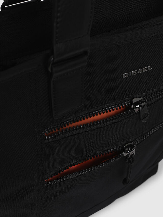 Diesel - F-URBHANITY TOTE, Black - Shopping and Shoulder Bags - Image 4
