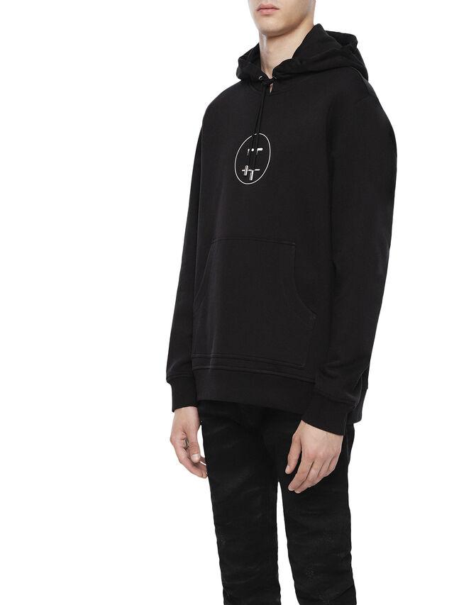 Diesel - SNEILBOOD-FACE, Black - Sweatshirts - Image 3
