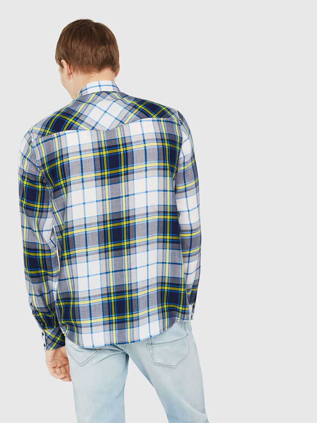 Diesel - S-EAST-LONG-F, White/Blue - Shirts - Image 2
