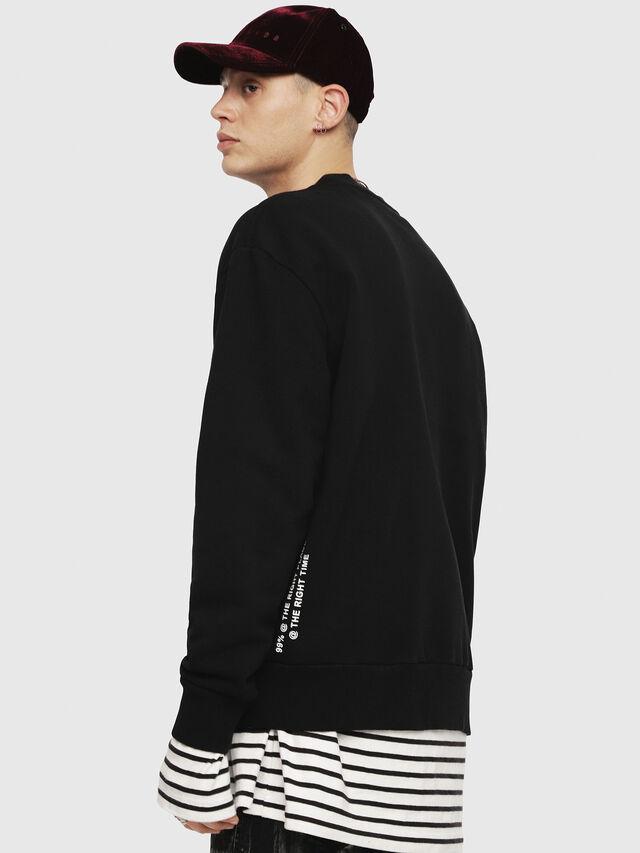Diesel - S-BAY-YC, Black - Sweatshirts - Image 3
