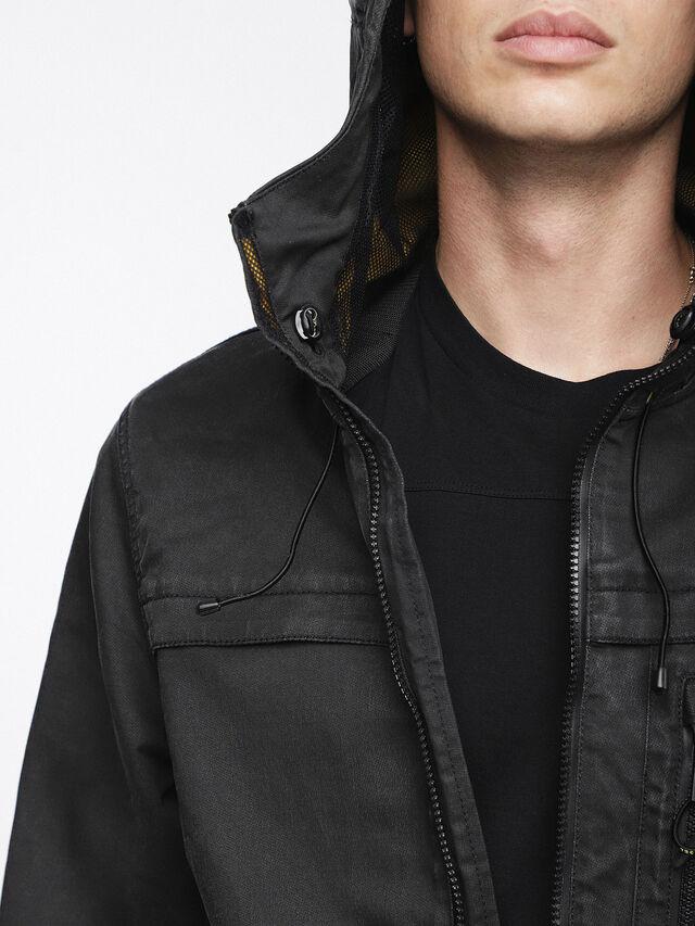 Diesel - JOQUE JOGGJEANS, Black/Dark Grey - Denim Jackets - Image 5