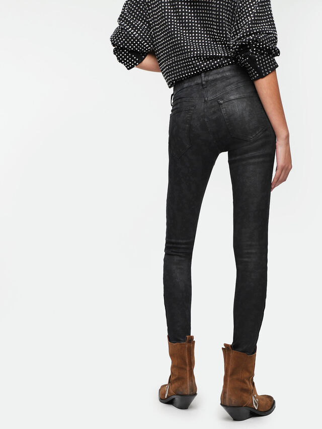 Diesel - Slandy Zip 085AX, Black/Dark Grey - Jeans - Image 2