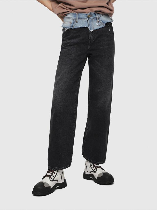 Diesel - Widee 088AB, Black/Dark Grey - Jeans - Image 1