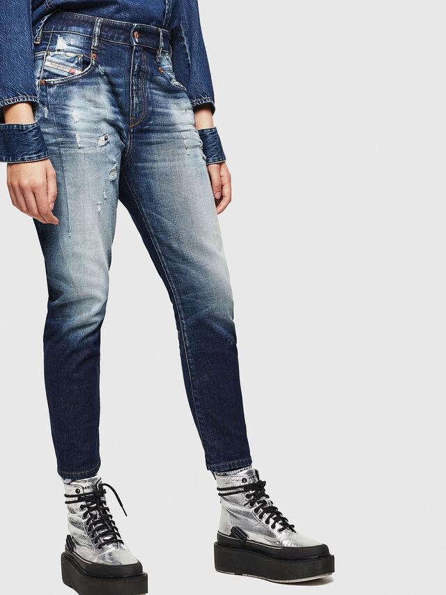 Diesel - Fayza 0092I, Medium Blue - Jeans - Image 7