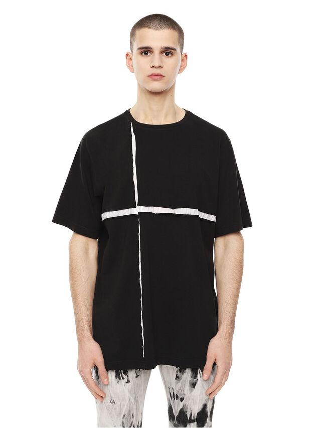 Diesel - TCUT, Black/White - T-Shirts - Image 1