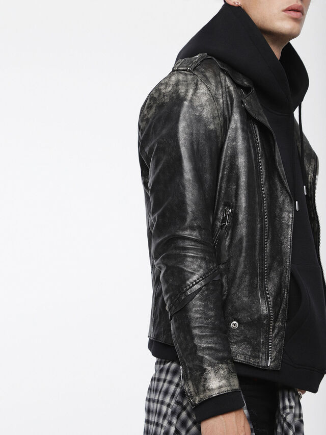 Diesel - L-INGRAN, Black Leather - Leather jackets - Image 1