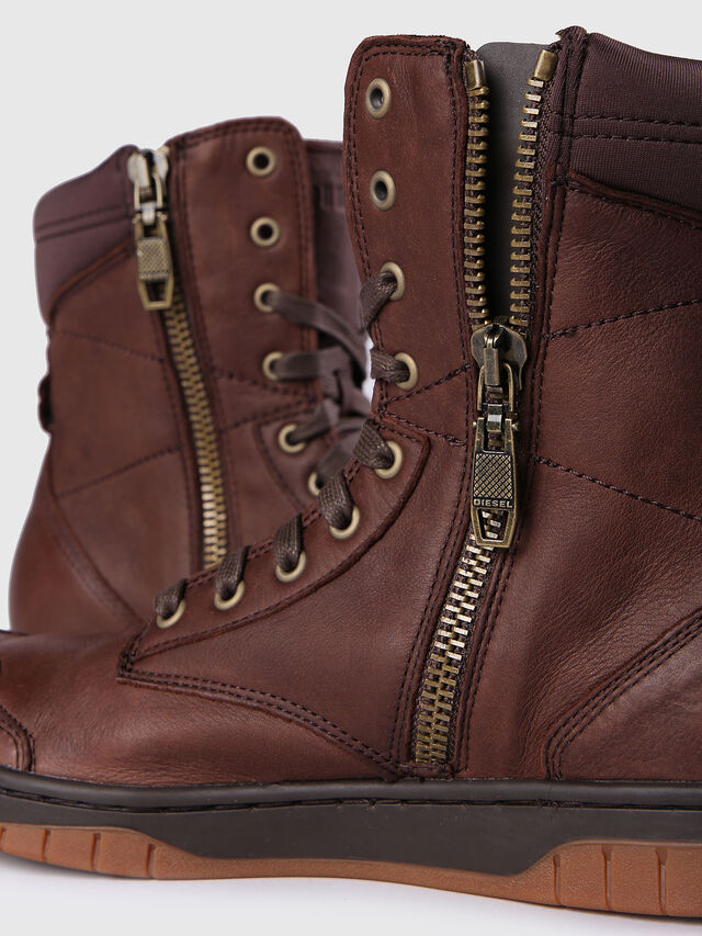Diesel - S-BOULEVARD, Brown Leather - Boots - Image 5