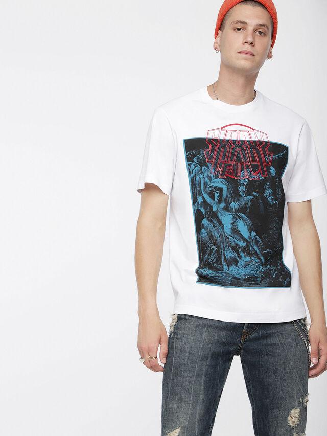 Diesel - T-JUST-XQ, White/Blue - T-Shirts - Image 1