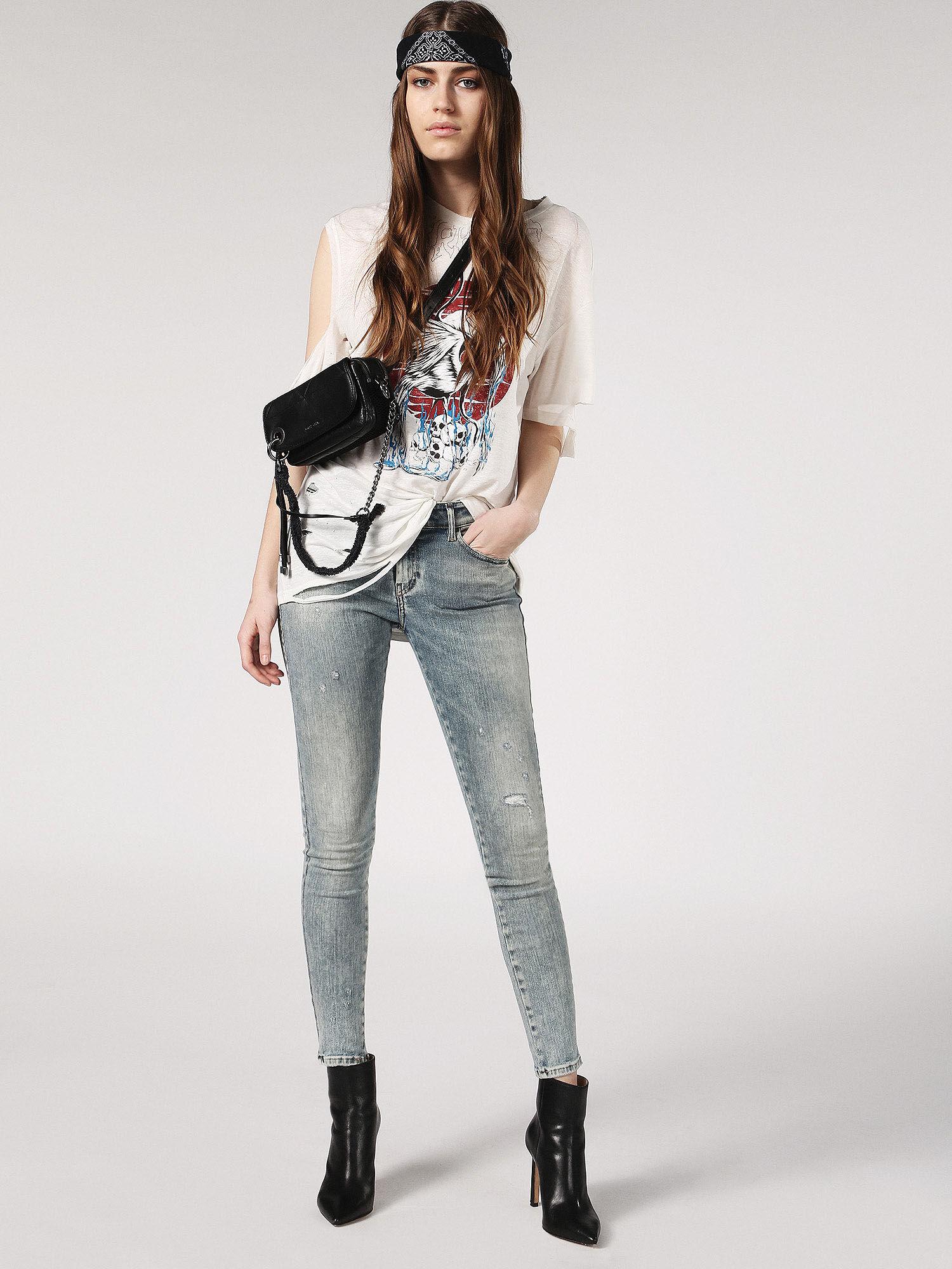 Diesel Skinzee Skinny Jeans Grey Womens Jeans Jeans for Women COLOUR-grey
