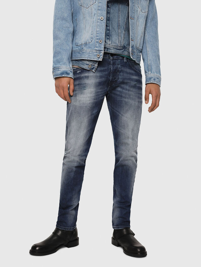 Diesel - D-Bazer 084DD, Medium Blue - Jeans - Image 1