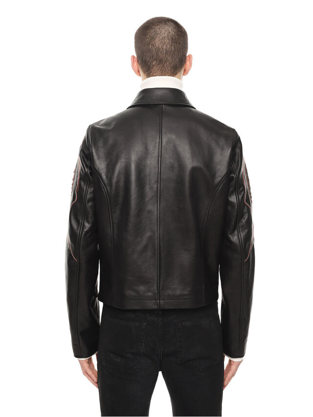 Diesel - LOLIQUE, Black - Leather jackets - Image 2