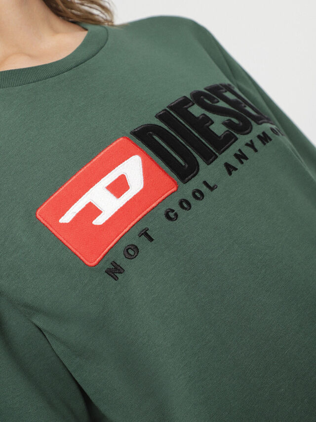 Diesel - HC-T-JUST-DIVISION, Bottle Green - T-Shirts - Image 7