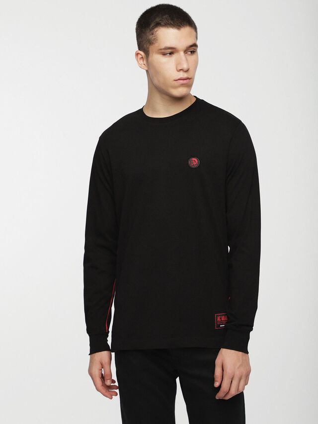 Diesel - DVL-TUNI-CAPSULE, Black - T-Shirts - Image 1