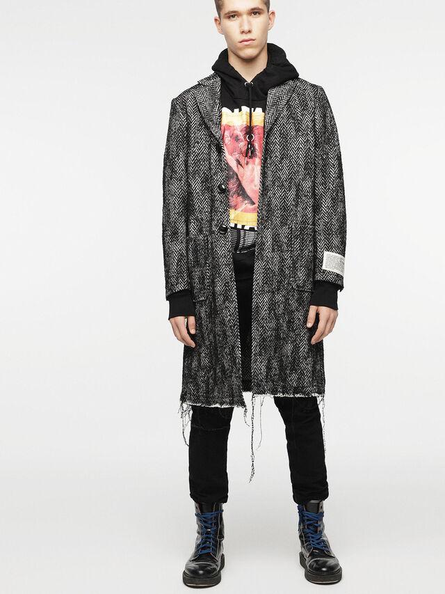 Diesel - W-DEXT, Black Melange - Winter Jackets - Image 1