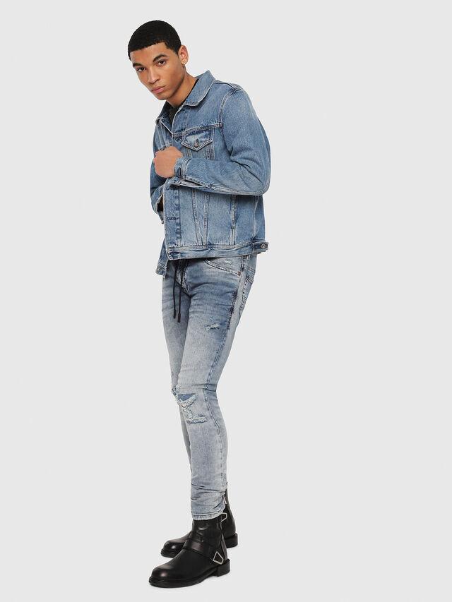Diesel - Thommer JoggJeans 069FC, Light Blue - Jeans - Image 5