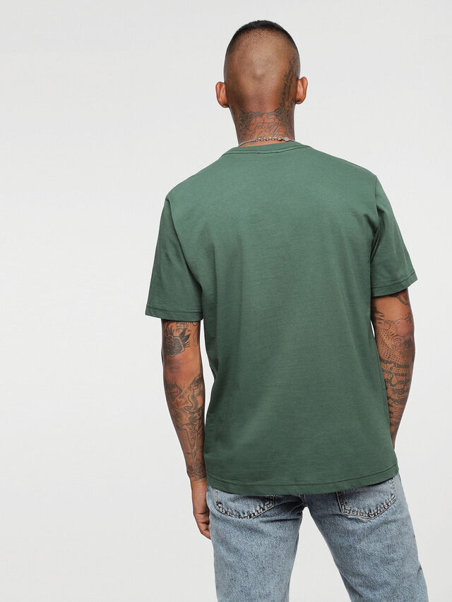 Diesel - HC-T-JUST-DIVISION, Bottle Green - T-Shirts - Image 3