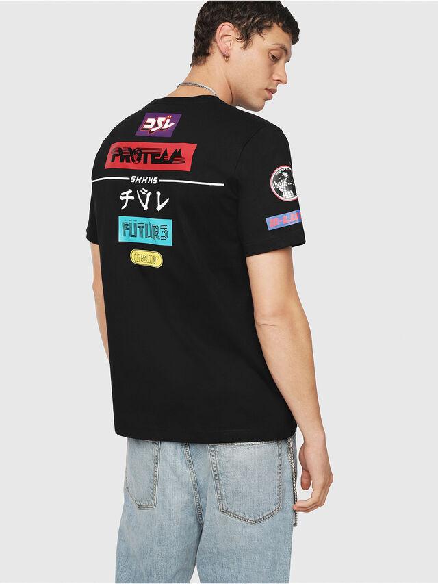 Diesel - T-JUST-YA, Black - T-Shirts - Image 2