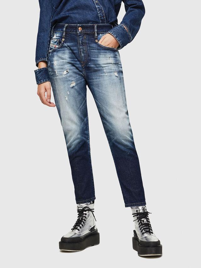 Diesel - Fayza 0092I, Medium Blue - Jeans - Image 1