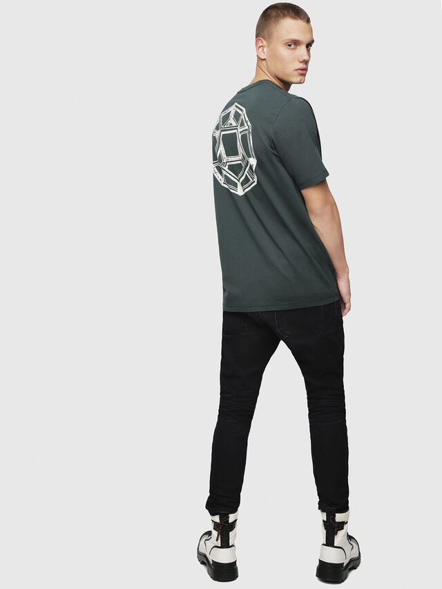 Diesel - T-JUST-YI, Dark Green - T-Shirts - Image 4