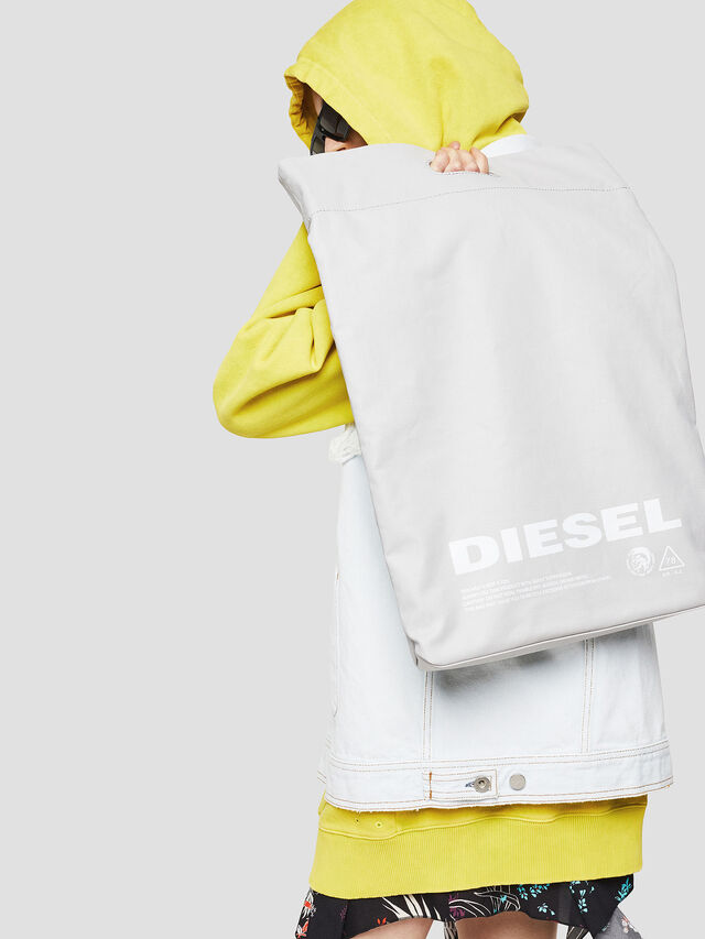 Diesel - F-LITT SHOPPER N/S, White - Shopping and Shoulder Bags - Image 5