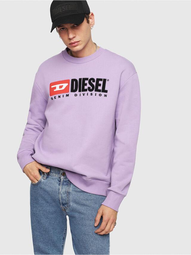 Diesel - S-CREW-DIVISION, Lilac - Sweatshirts - Image 4