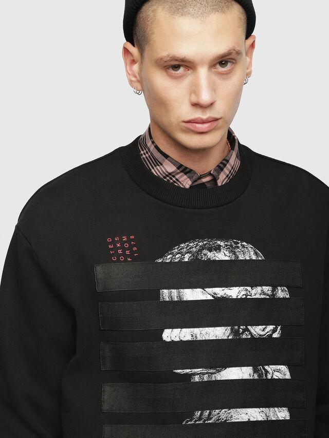 Diesel - S-BAY-YB, Black - Sweatshirts - Image 3