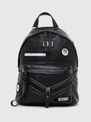 36ddf55dfd Leather backpack with patches