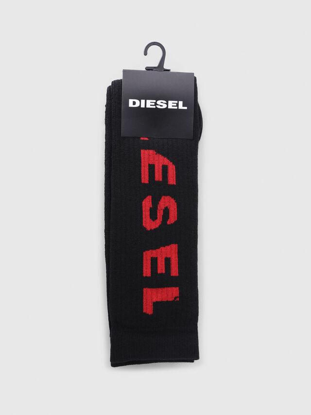 Diesel - SKM-LONG, Black/Red - Socks - Image 2