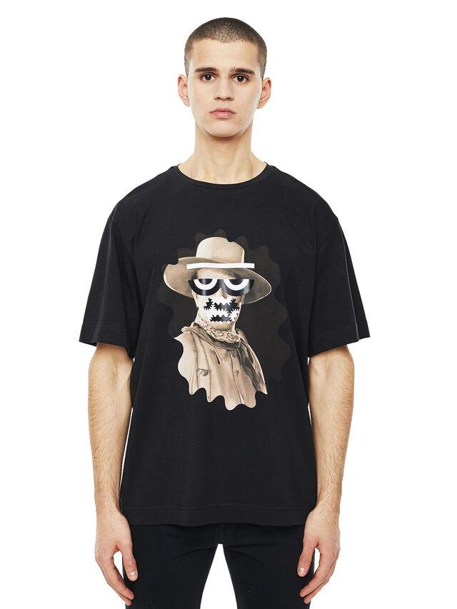 Diesel - TEORIAL-COWBOY, Black - T-Shirts - Image 1