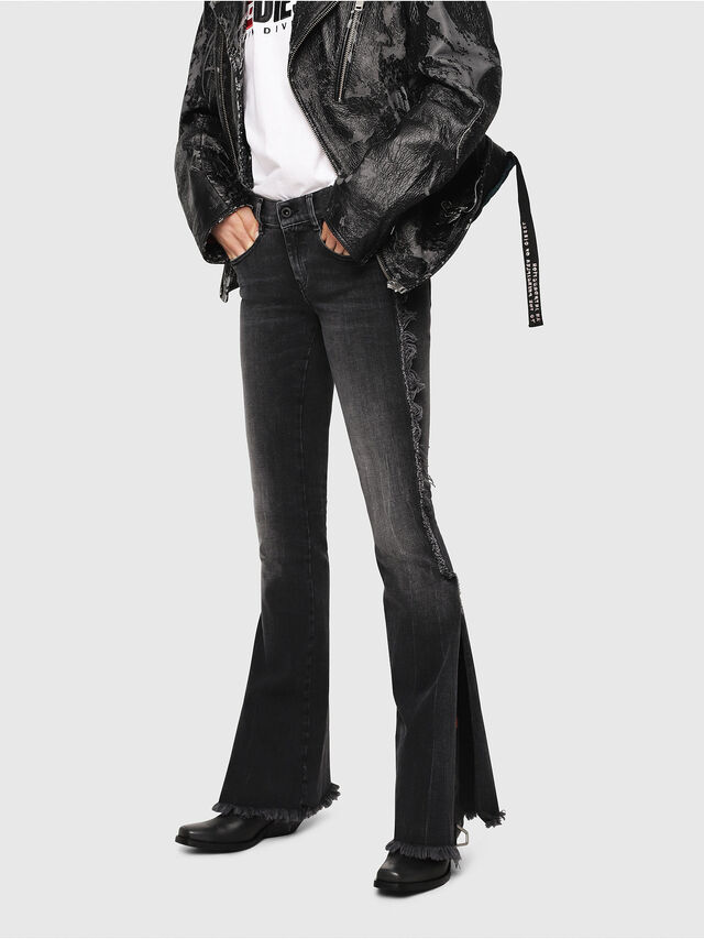 Diesel - D-Ebbey 081AH, Black/Dark Grey - Jeans - Image 1