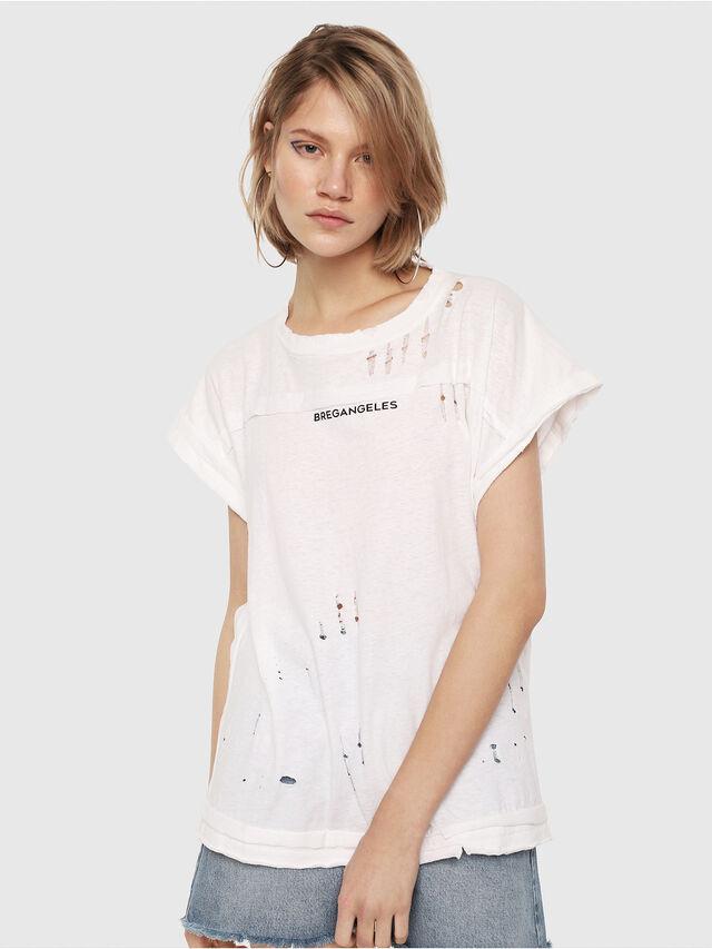 Diesel - T-JAIDA, White/Black - T-Shirts - Image 1
