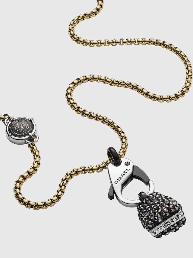 Diesel - DX1177, Black/Yellow - Necklaces - Image 2