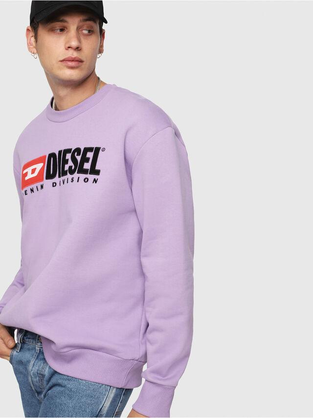 Diesel - S-CREW-DIVISION, Lilac - Sweatshirts - Image 3